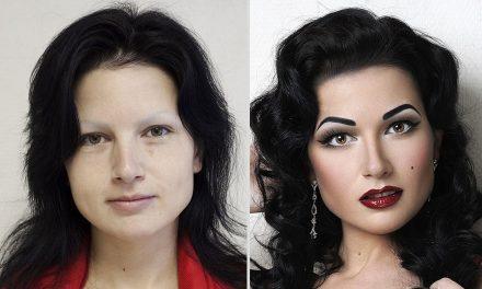 Ohromující přeměny jen pomocí make-upu