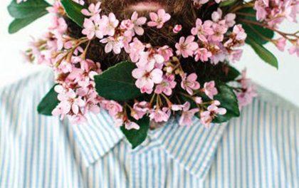 Nejnovější trend: Vousy plné květin!