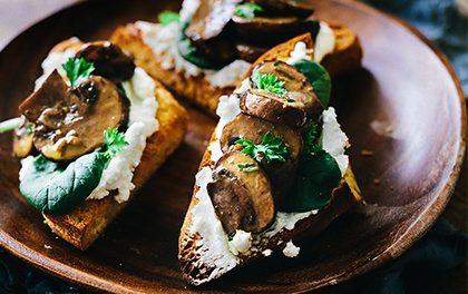 Delikátní záležitost – Toasty s žampiony a kozím sýrem!