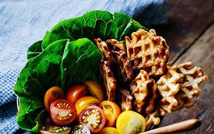 Slané vafle s modrým sýrem a slaninou – Dobré nejen na snídani!