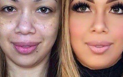 Jak vypadají ženy pod nánosy makeupu? Rozhodně hůř!