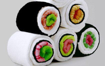Kuchyňské utěrky v designu sushi dostanou každou návštěvu!