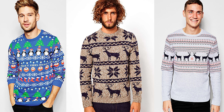 Originální vánoční svetry pro muže  fb46d48801