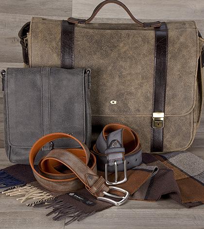 Dopřáváme si jen luxusní doplňky pro muže! Elegantní kožené tašky i praktické opasky