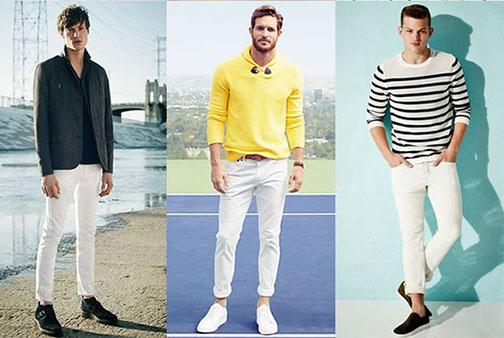 Jak nosit pánské bílé kalhoty  54006329b1