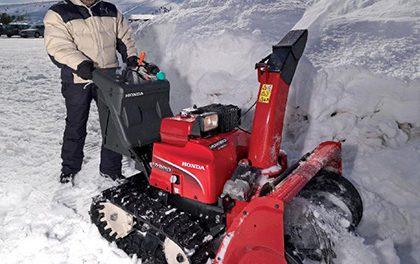 Sněžná fréza Honda vám usnadní v zimě práci