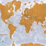 Stírací mapa je skvělým dárkem pro cestovatele