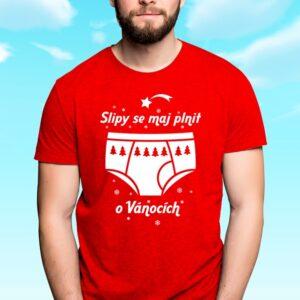 Vánoční vtipné pánské tričko